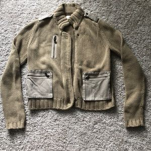 EUC loft military inspired sweater jacket small